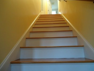 Staircase painting Cape Cod