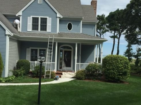 Exterior painting Cape Cod, Brewster