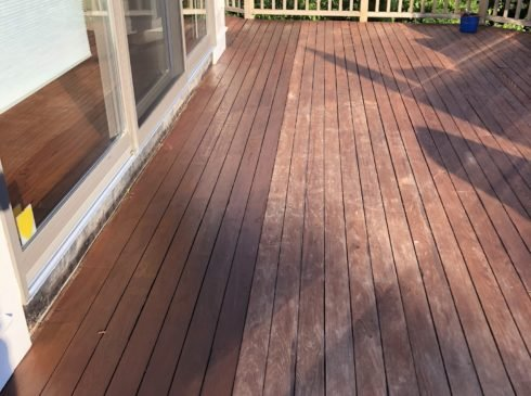 Deck power washing service Cape Cod, deck painting.