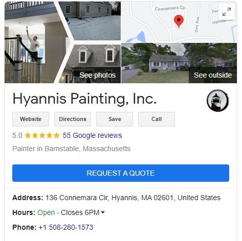 Hyannis Paint rating